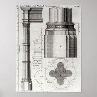 De tweede Orde van Gotische Architectuur, 1741 Poster