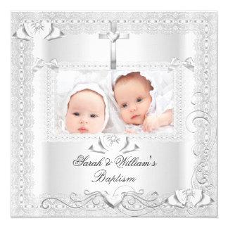 De tweeling Jongen die van het Meisje van het 13,3x13,3 Vierkante Uitnodiging Kaart