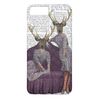 De Tweelingen van herten in Paars iPhone 7 Plus Hoesje