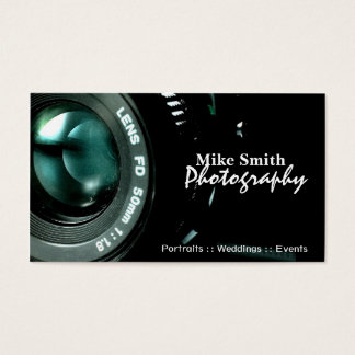 De tweezijdige visitekaartjes van de Fotograaf van