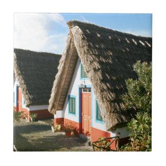 De typische huizen van het Eiland van madera, Tegeltje
