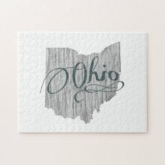 De Typografie van de Staat van Ohio Legpuzzel