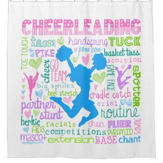 De Typografie van de Woorden van Cheerleading van Gordijn 0