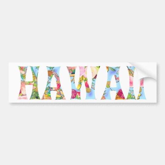 De Typografie van Hawaï Tiki van PixDezines Bumpersticker