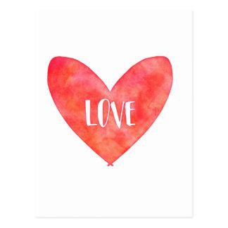 De Typografie van het Hart van de Liefde van Briefkaart