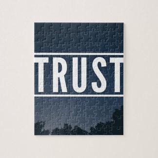 De typografie van het vertrouwen hipster legpuzzel