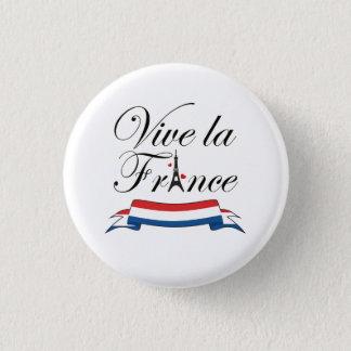De Typografie van La Frankrijk van Vive Ronde Button 3,2 Cm