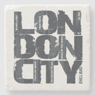 De Typografie van Londen, Engeland Stenen Onderzetter