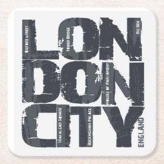 De Typografie van Londen, Engeland Vierkante Onderzetter