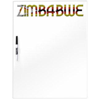 De Typografie Zuid-Afrika van de Kleuren van de Whiteboard