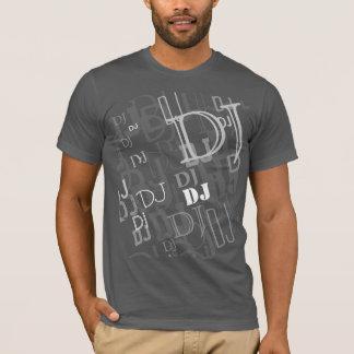 De typografiepatroon van DJ T Shirt