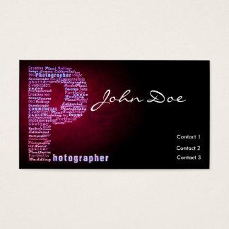 De Typografische Visitekaartjes van de fotograaf