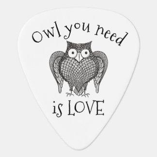 De uil die u hebt vereist gitaar plectrums 0