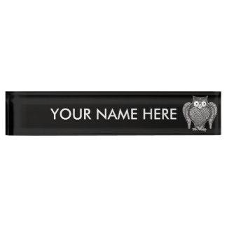De uil die u hebt vereist naambord