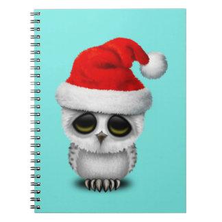 De Uil die van het baby een Pet van de Kerstman Notitieboek