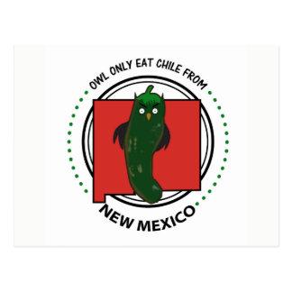 De uil eet slechts Chili van New Mexico Briefkaart