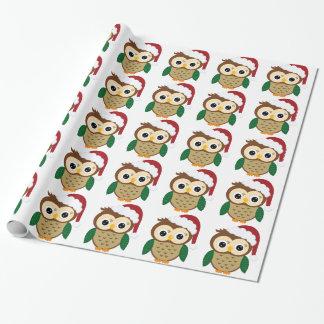 De Uil van de Kerstman van Kerstmis Inpakpapier