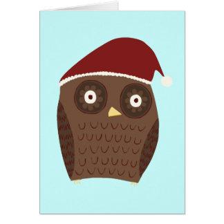 De Uil van Kerstmis Briefkaarten 0