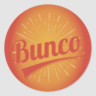 De Uitbarsting van Bunco Ronde Sticker