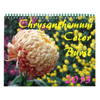 de Uitbarsting van de Kleur van de Chrysant van 0 Kalender