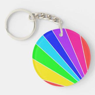 De Uitbarsting van de regenboog 2-Zijden Ronde Acryl Sleutelhanger