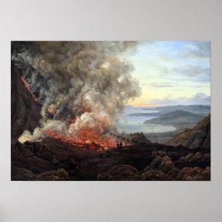 De Uitbarsting van Johan Christian Dahl van Poster