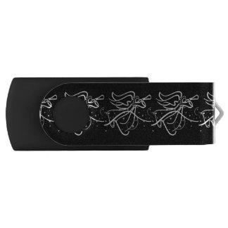 De uitbazuinende zwarte van de Engel en Swivel USB 2.0 Stick