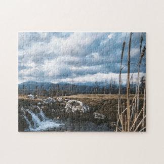 De uiterst kleine Figuurzaag van Watervallen en Foto Puzzels