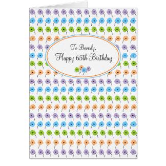 De uiterst kleine Gelukkige 65ste Verjaardag van Wenskaart