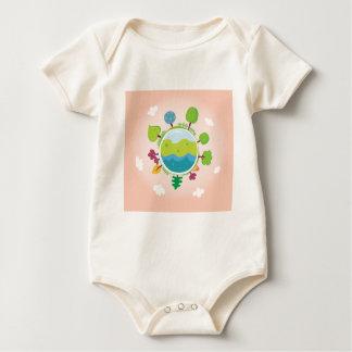 De uitgave van de Illustratie van de aardedag Baby Shirt