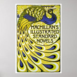 De Uitgave van de pauw, Illustraded van MacMillan Poster