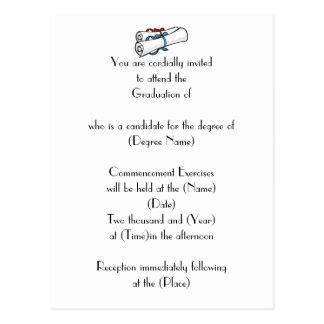De uitnodiging-Diploma's van de Afstuderen van de Briefkaart