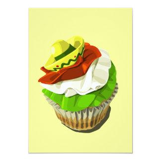 De uitnodiging van Cinco DE Mayo cupcake