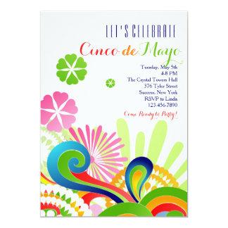 De Uitnodiging van Cinco DE Mayo van de Kleuren