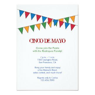 De Uitnodiging van de Banner van Cinco DE Mayo