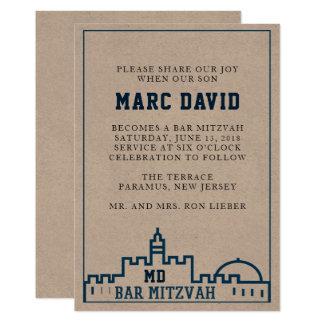 De uitnodiging van de Bar mitswa van Kotel - van
