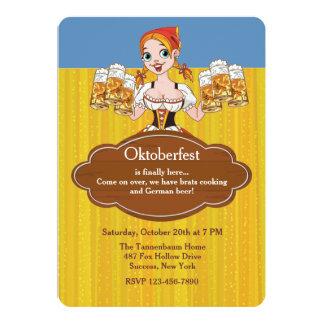 De Uitnodiging van de Bieren van Oktoberfest 12,7x17,8 Uitnodiging Kaart