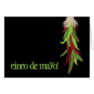 de uitnodiging van de cincoDE Mayo partij Wenskaart