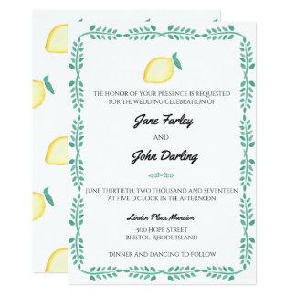De uitnodiging van de citroen