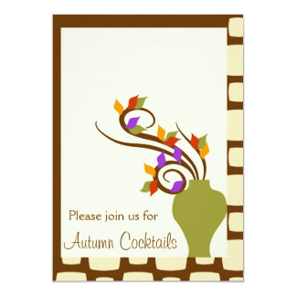 De Uitnodiging van de Cocktail party van de herfst