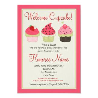 De Uitnodiging van de Douche van Cupcake