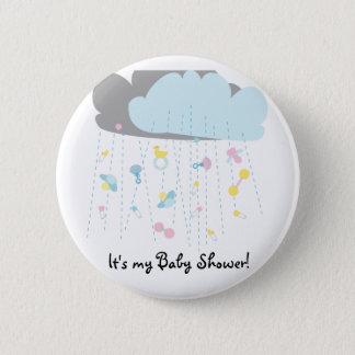 De Uitnodiging van de Douche/van het Baby shower Ronde Button 5,7 Cm
