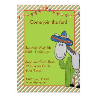 De Uitnodiging van de Fiesta van de Cactus van de