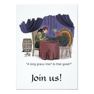 De uitnodiging van de grappige en pretThanksgiving