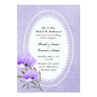 De Uitnodiging van de Jute van de lavendel en van
