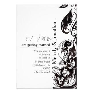 De Uitnodiging van de Kaart van het Huwelijk van