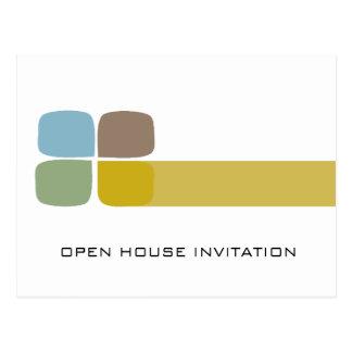 De Uitnodiging van de Opendeurdag van het bedrijf Briefkaart