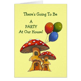 De Uitnodiging van de partij: Giftige paddestoelen Wenskaart
