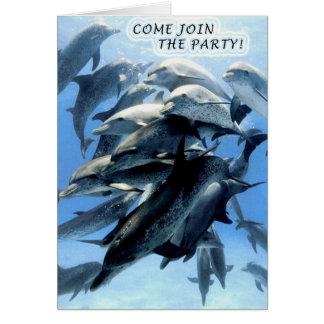 De uitnodiging van de partij notitiekaart