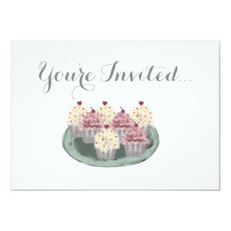 De Uitnodiging van de Partij van Cupcake